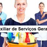 Contrata-se auxiliar de serviços gerais – Ensino fundamental completo – Segunda a sexta das 07:00 às 16:00 e Sábado das 12h00 às 16h00, Não é necessário ter experiencia!