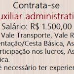 Vagas de emprego para trabalhar de Auxiliar administrativo, Não é necessário ter experiencia!