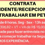 CONTRATA-SE ATENDENTE/RECEPCIONISTA PARA PET SHOP – NÃO EXIGE EXPERIÊNCIA.