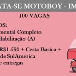 CONTRATAÇÃO PARA TRABALHA DE MOTOBOY.